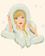 girl in furs