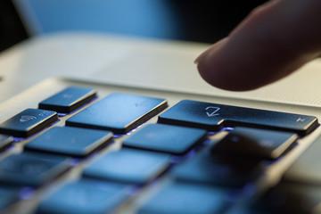 Enter auf der Laptop Tastatur