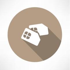 Sim card icon. Flat design.