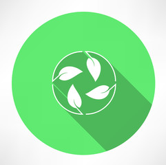 cycle leaves icon