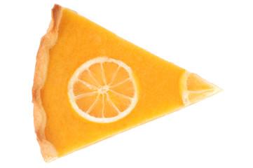 Au-dessus d'une part de tarte au citron