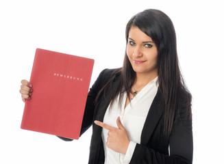 Studentin mit Bewerbungsmappe