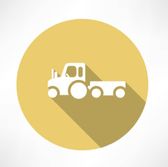 tractor with trailer icon