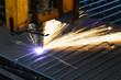 automatisierte Laserschneidanlage im Stahlbau