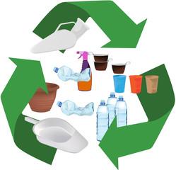 logo raccolta plastica