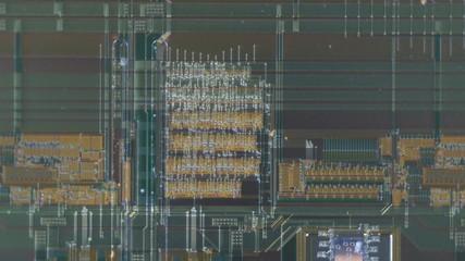 Electronic circuit of printhead of an inkjet printer