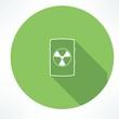 barrel with hazardous material icon - 73351195