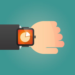 Smart watch icon with a pie chart