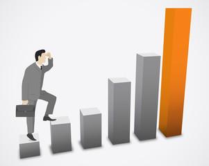 Businessman growth