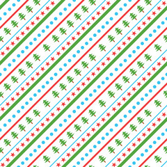 Christmas Diagonal seamless pattern