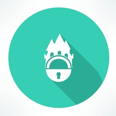 castle and locking icon