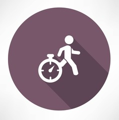 man running out of time icon