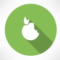 Bitten Apple Green icon