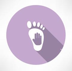 leg and hand print icon