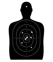 Human Target with Bullet Holes
