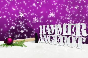 Hammer Hammerangebot Angebot Weihnachten Christmas