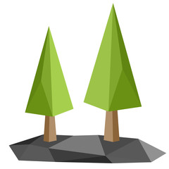 Geometric Low-poly Trees