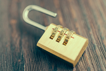 Close up pad lock