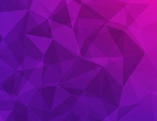 polygon geometric abstract background of dark purple