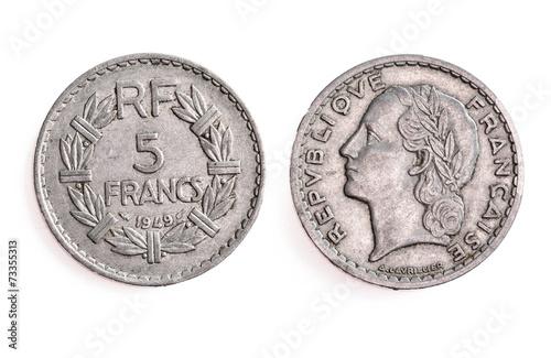 ancienne pi ce de monnaie fran aise de 5 francs 1949. Black Bedroom Furniture Sets. Home Design Ideas