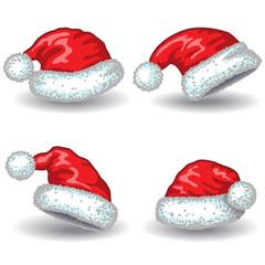 Santa Claus hats.