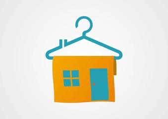sale home hanger logo vector