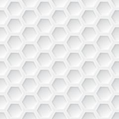 White 3d hexagon seamless pattern
