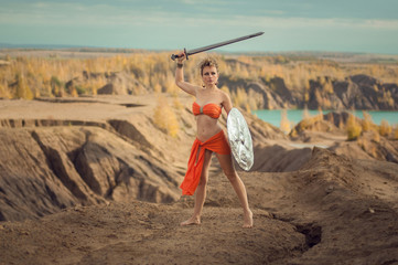 Афина с мечем