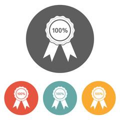 100 percent badge icon