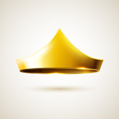 Golden simple crown