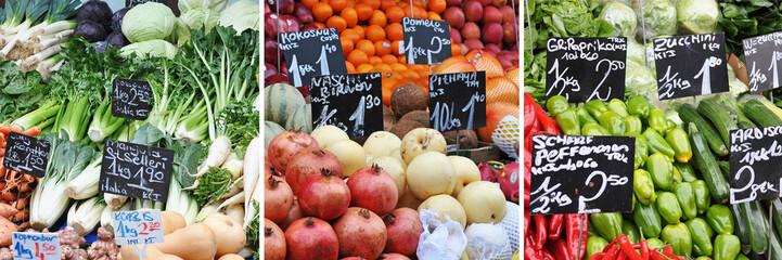 frisches obst und gemüse vom markt
