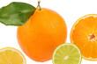 canvas print picture - Spiegelung einer Orange
