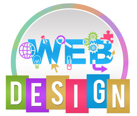 Web Design Circle Stripe Colorful