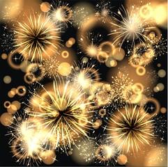 Hintergund mit Feuerwerk