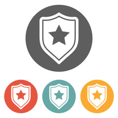 shield star icon