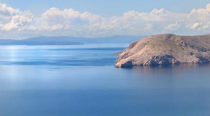 îlot dans mer adriatique (Croatie)