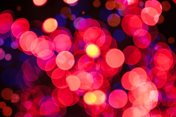 Christmas shiny background with red lights