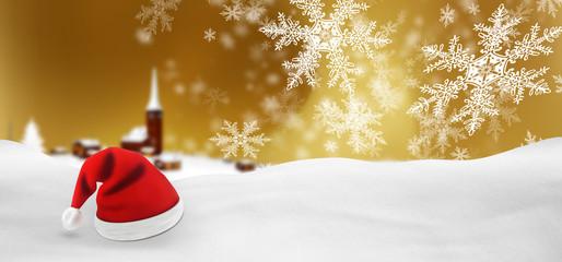 Weihnachtskarte, Banner, Panorama, Webdesign, Head, Goldgelb