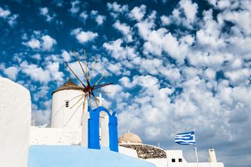Windmill in Oia town