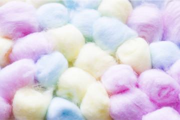 Pastel cotton balls
