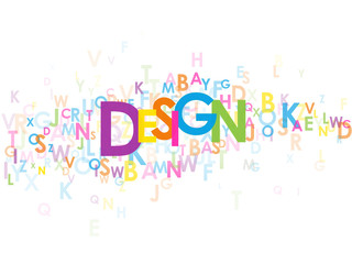 """DESIGN"" Letter Collage (graphics architecture art creation)"