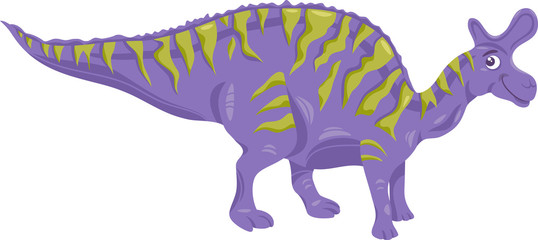 lambeosaurus dinosaur cartoon illustration