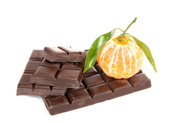 mandarine and chocolate tablet