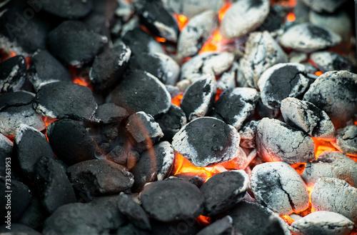 burning charcoal - 73363953