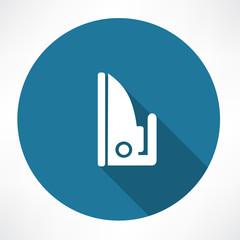 Steam iron icon