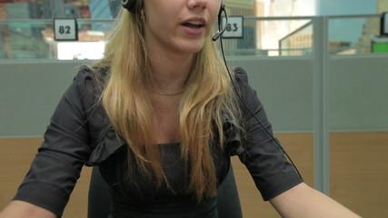 customer service agent in call center