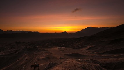 Sunrise Time Lapse at Mount Bromo, Indonesia