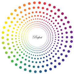 Perfect Rainbow Concentric Circles