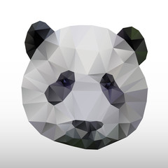 abstract polygonal panda