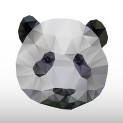 abstract polygonal panda